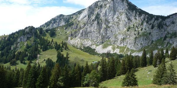Benediktenwand von Süden mit Hinterer Scharnitzalm