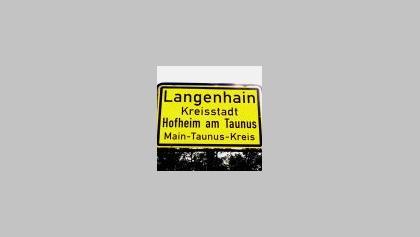 Langenhain Ortsschild