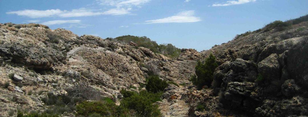 Abstieg im Canyon zur Cala d'en Serra