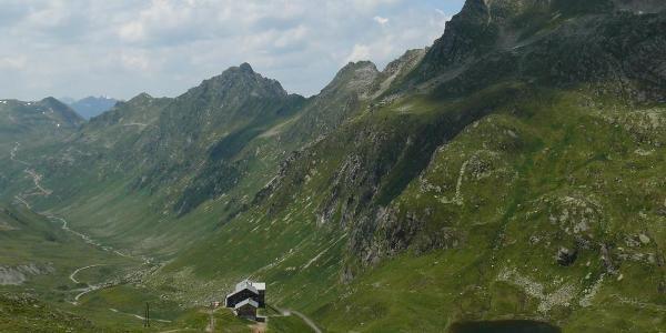Blick zür Heilbronner Hütte