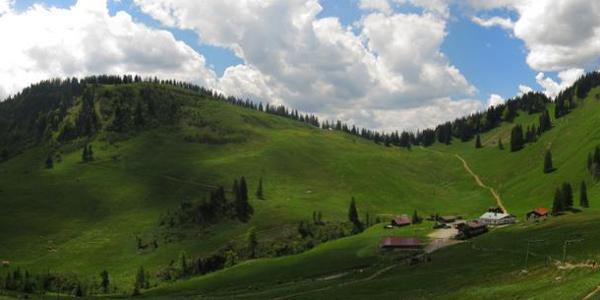 Panoramablick auf die Firstalmen