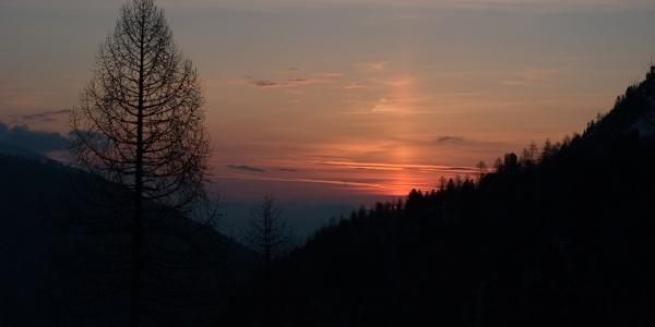Früher Aufbruch ist für diese Tour notwendig.Dafür wird man mit der großartigen Schau des Sonnenaufgangs belohnt
