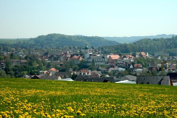 Blick von der Nellenburg auf Stockach