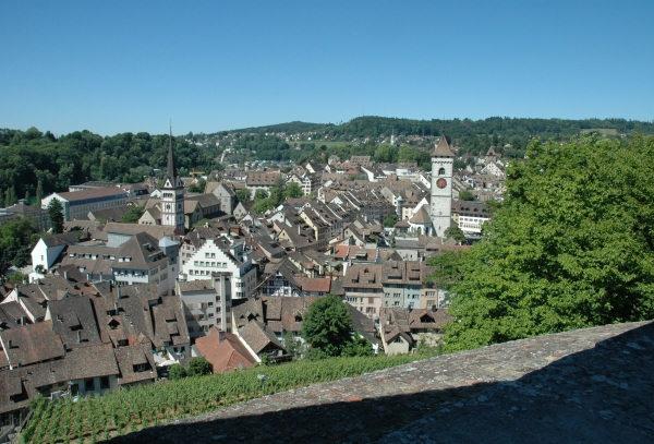 Herrlicher Blick auf die Altstadt und den Rhein