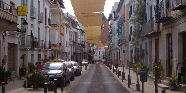 Straße in Lanjarón