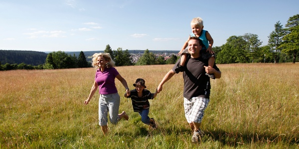 Familie auf dem Kienberg