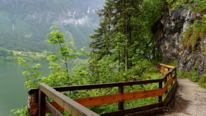 Steiler Weg entlang des Hallstättersees