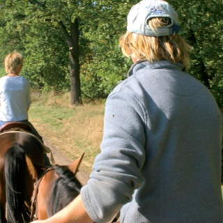 Wir reiten durch den Naturpark Fläming.