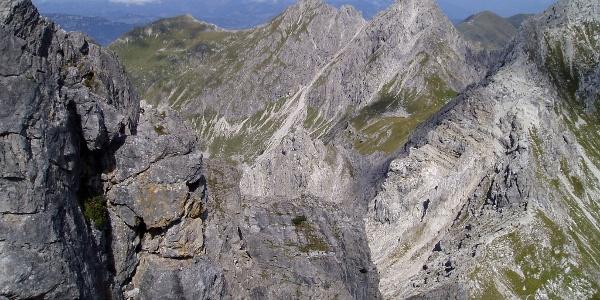 Im Mindelheimer Klettersteig.