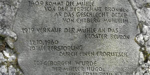 Gedenkstein für die Bronner Mühle.