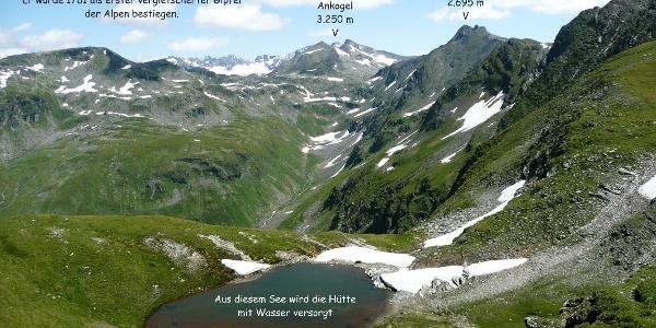 Trinkwassersee und Ankogelgruppe
