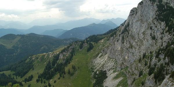 Achselköpfe und Alpenpanorama.
