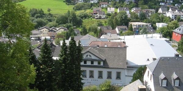 Blick auf die Ortschaft Daun.