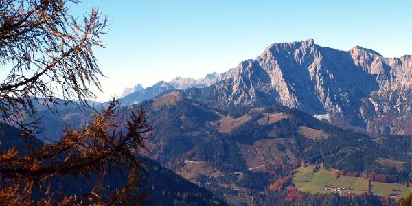 Blick Nähe Plattenalm 1437m zum Hochkogel