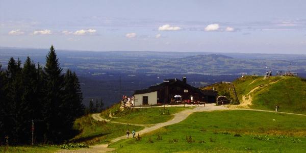 Die Hörnle Hütte mit Panorama