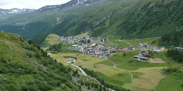 Blick zurück auf Obergurgl