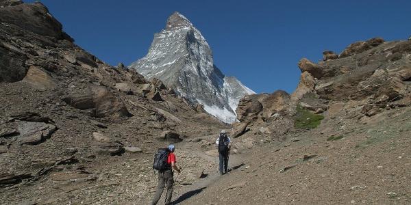 Ascent to the Hörnli hut (3,260 m)