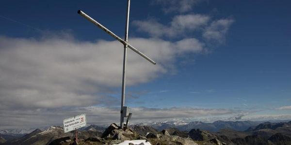 Auf dem Hochkreuz, einem der höchsten Gipfel der Kreuzeckgruppe.