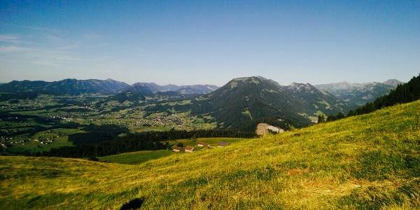 Aussicht bei der Lustenauer Hütte