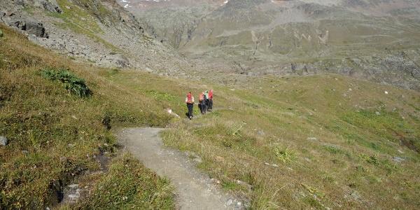 Start von der Langtalereckhütte