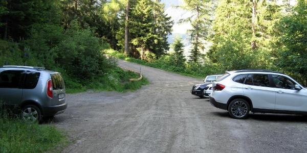 Der Ausgangspunkt. Beim großen Parkplatz oberhalb der Krepperhütte.