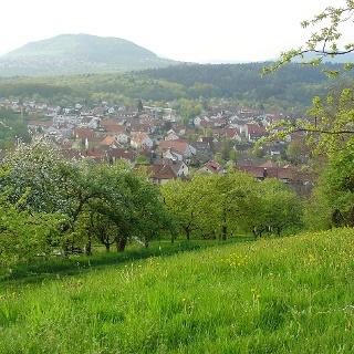 Blick vom Berg der Gemeinde Grafenberg