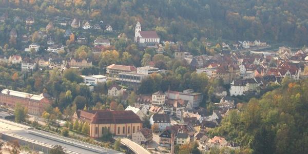 Blick auf Oberdorf a.N.