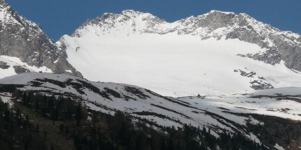 Blick vom Weißenbachtal über die Hänge hinauf zum Turnerkamp.