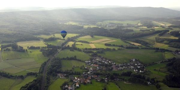 Ballonfahrt über Langeland bei Bad Driburg