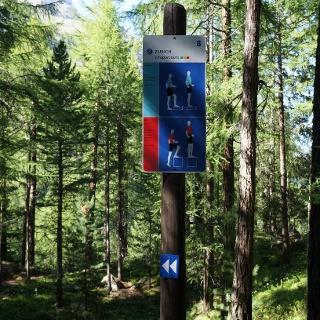 The vita parcours between Zen Stecken and Blatten