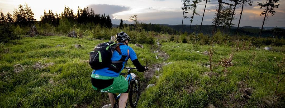 Biken im Erzgebirge