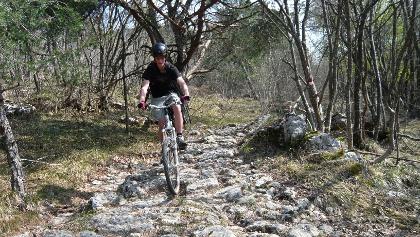 Die Trails führen uns teilweise über sehr steinige Passagen.