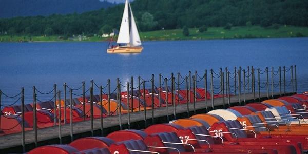 Tretbootverleih am Bostalsee