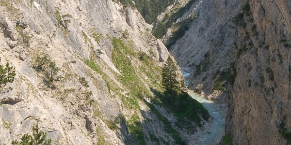 Die tiefe Karwendelschlucht