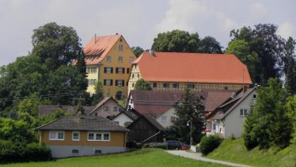 Blick auf Schloss und den Ort Langenrain