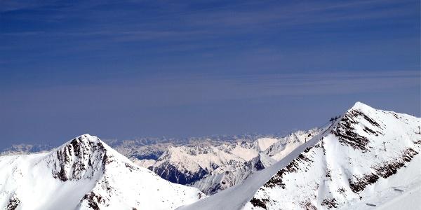 Beide Gipfelziele, Hoher Riffler und Gefrorene Wandspitze