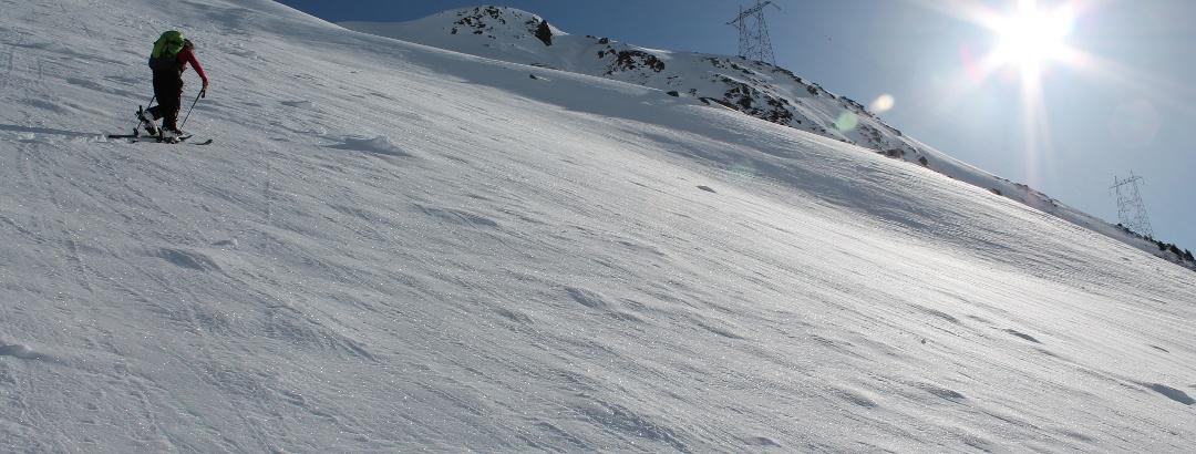 Steiler Aufstieg vom Val Milar
