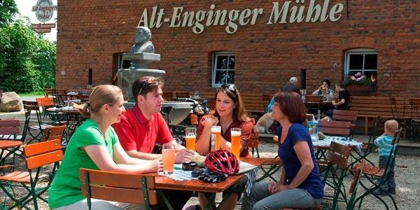 Biergarten der Alt-Enginger-Mühle