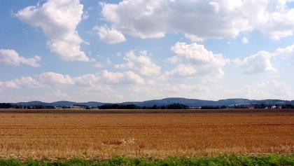 Hügellandschaft in der Oberlausitz
