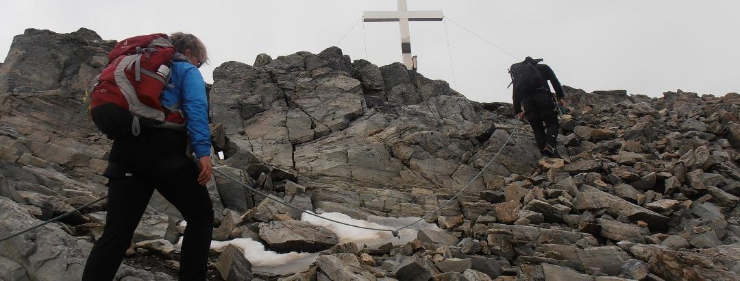 Kurz vor dem Gipfel der Hinteren Jamspitze.