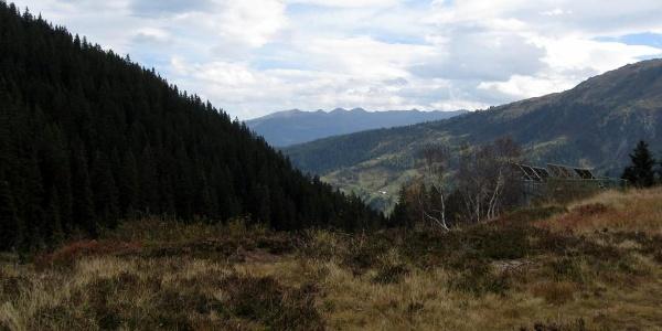 Am Loassattel, Blickrichtung Zillertal.