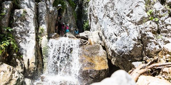 Einstieg Klettersteig Röbischlucht