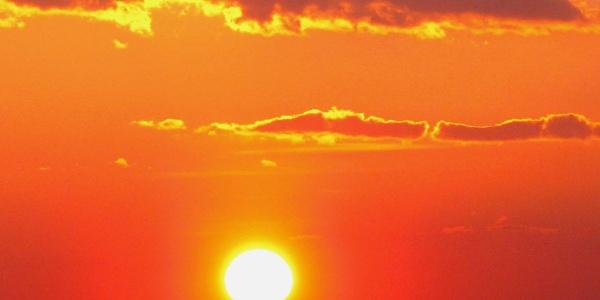 Sonnenuntergang in Riedelberg.