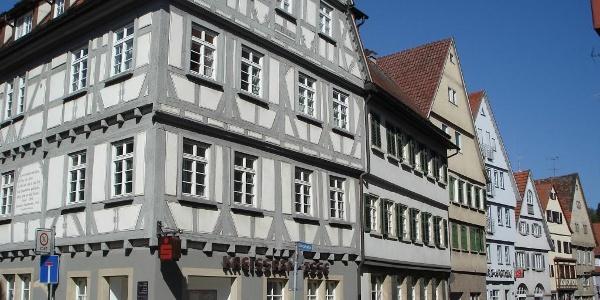 """Das Kirchberger'sche Haus in Rottenburg wurde 1569 als """"fränkisches"""" Fachwerkhaus erbaut"""