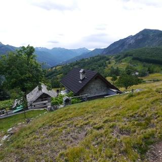 Durch die herrlichen Almwiesen des Monte di Comino geht es zurück in Richtung Seilbahnstation.