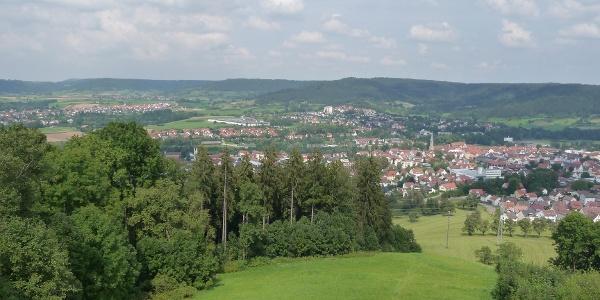 Blick nach Gaildorf  vom Kernerturm