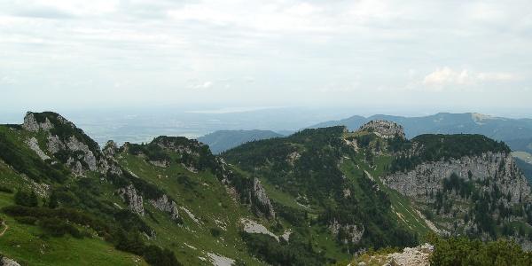 Aussicht auf Probstenwand und Starnberger See.