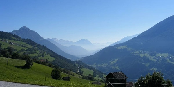 View from the alpine hut Larcheralm onto our further way