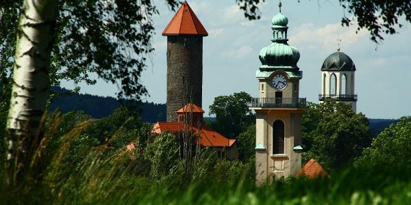 Die Drei Türme der Stadt Auerbach