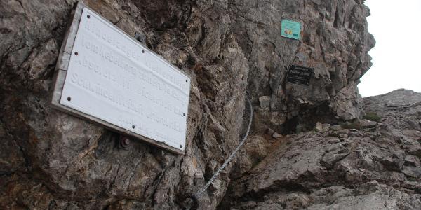 Einstieg Hindelanger Klettersteig